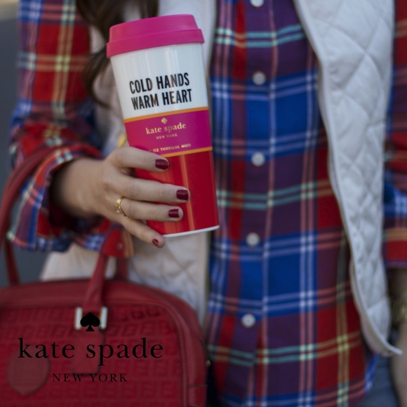 Kate Spade Cold Hands Warm Hearts Thermal Mug